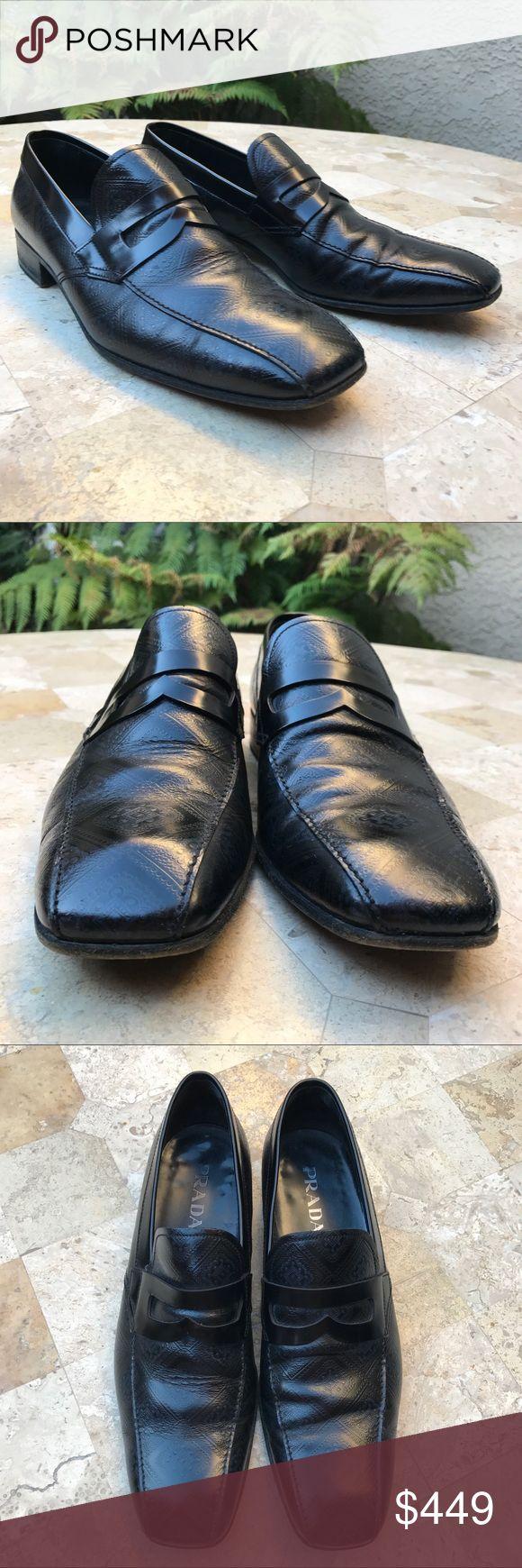Men's Shoes Prada Black Leather Size US 11 Men's Shoes Prada Black Leather Size US 11 Prada Shoes Oxfords & Derbys