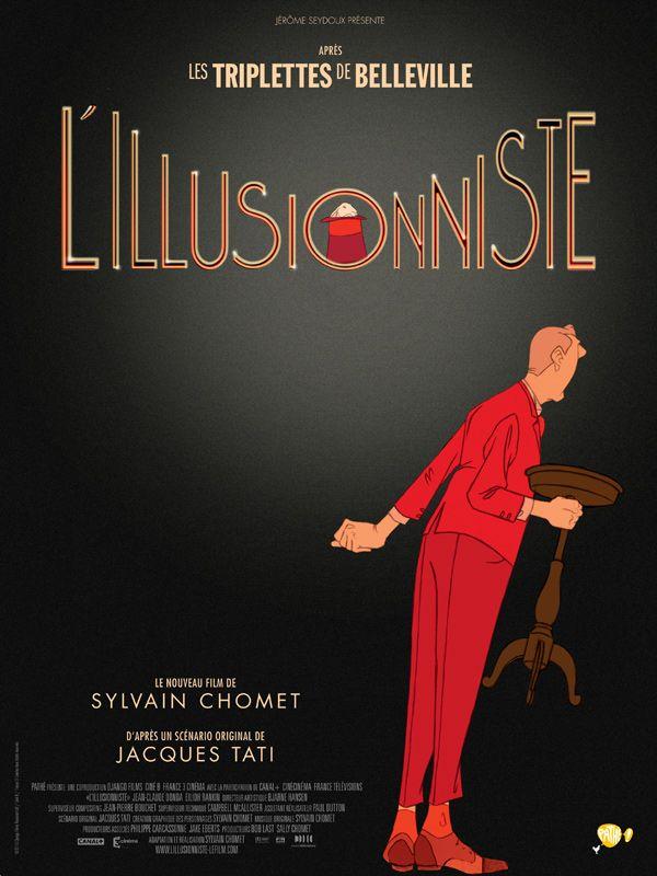 L'Illusionniste est un film de Sylvain Chomet avec Jean-Claude Donda, Edith Rankin. Synopsis : À la fin des années 50, une révolution agite l'univers du music-hall : le succès phénoménal du rock, dont les jeunes vedettes attirent les foules, tan