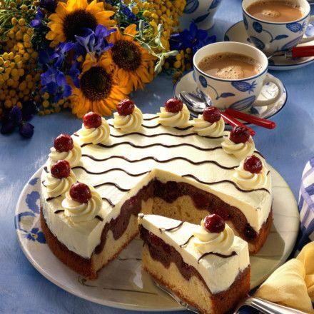 Feine Donauwellen-Torte Rezept