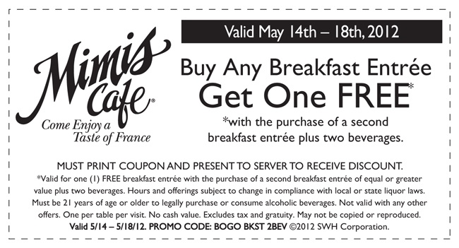 Mimi's cafe coupons june 2018