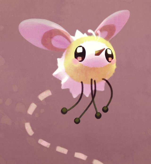 Sun and Moon new Pokémon Cutiefly (bug and fairy type)