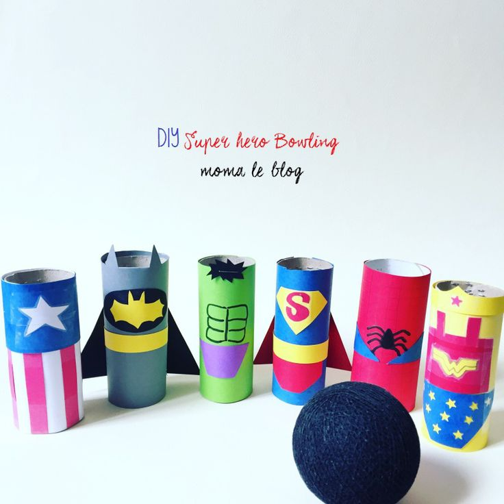 Un mini bowling de super héros ! http://www.hellocoton.fr/to/1pdcG#https://momaleblog.com/2016/04/23/diy-un-mini-bowling-de-super-heros/