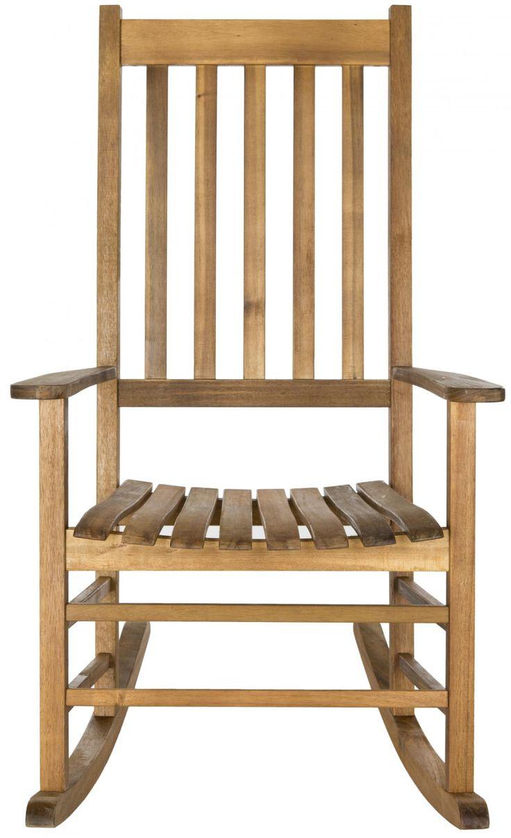 Outdoor rocking chairs - Teak Brown Outdoor Rocking Chair