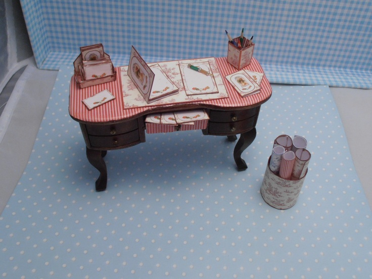 Gaël Miniature Ladies Filled Writing Desk. €50.00, via Etsy accessories .
