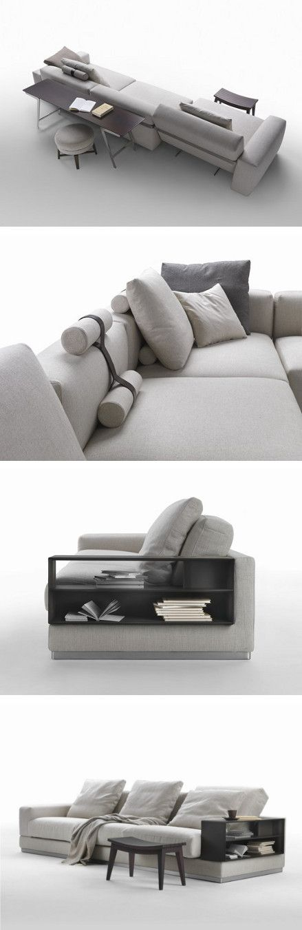 Neutral tones for a relaxing atmosphere. New Flexform Collection coordinated by Antonio Citterio @flexform