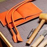 ヌメ革の手縫いトートバッグをつくる