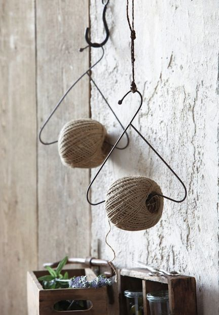 Twine and Jute Storage - via Regards et Maisons                                                                                                                                                      More