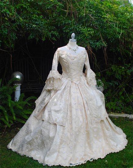 Marie antoinette wedding dress holidays halloween for Marie antoinette wedding dress