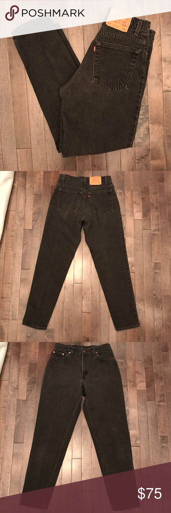 "Vintage Levi's 550 black high waist jeans Killer vintage Levi's 550 black high waist jeans. Has a 28""waist best fit for a modern jean size 27/28. So cool and ready for a great home Levi's Jeans Skinny"