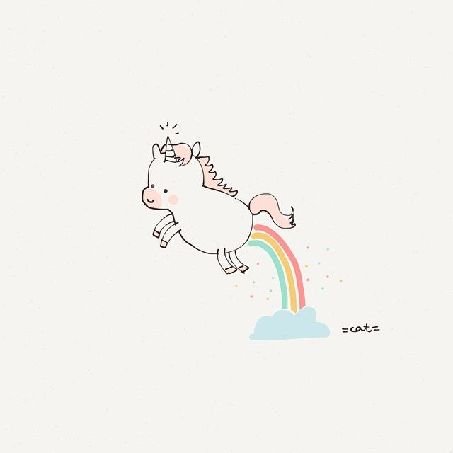 May your day be filled with rainbows and sprinkles. Happy holidays. #catplusmouse #unicornsaremyfav #doodle #madewithpaper