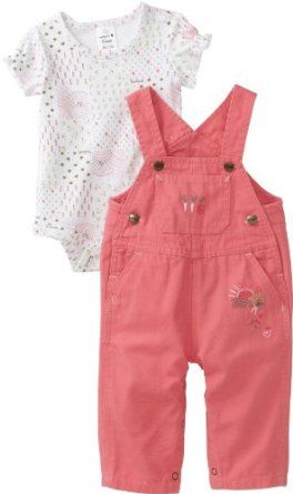 Carhartt Baby-girls Infant Washed Bib Overall Set, Confetti, 3 Months Carhartt. $31.99