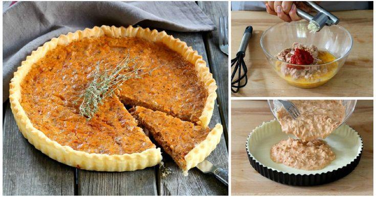 Come preparare una VELOCE torta salata al tonno