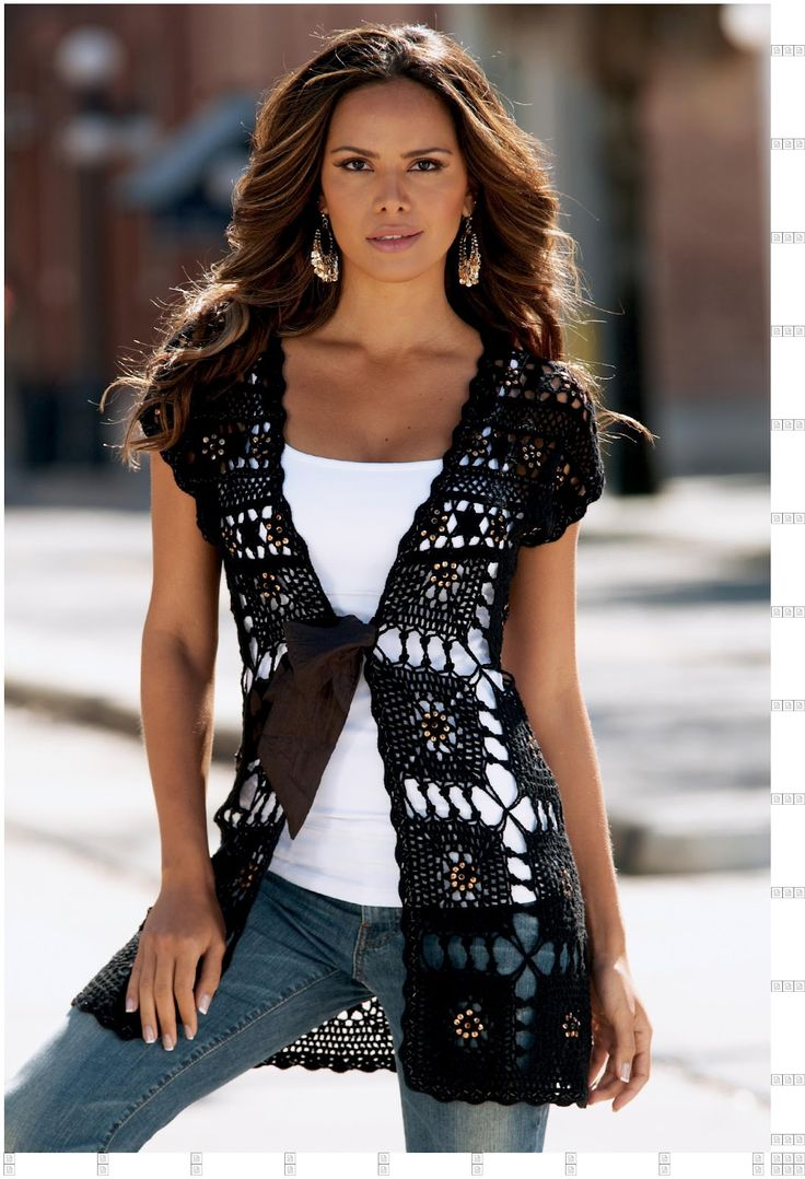 Vest of the Squares free crochet free crochet pattern
