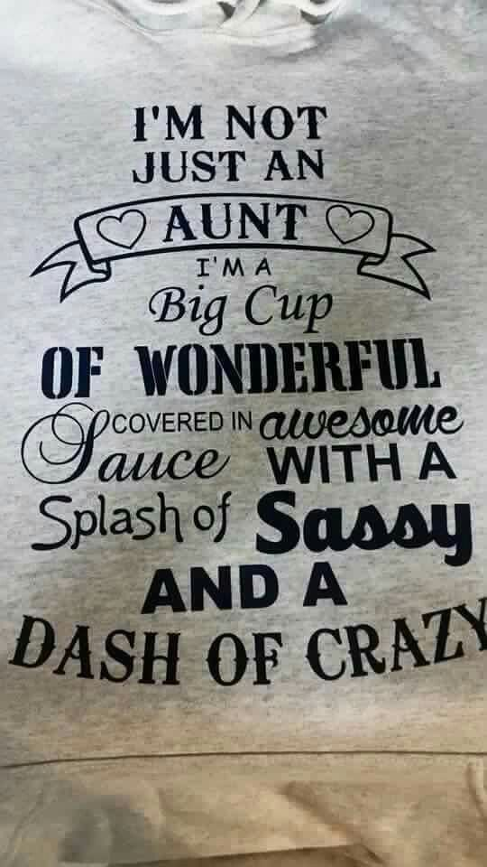 I'm not just an Aunt, I'm a.......!!