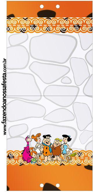 Convite Pirulito Os Flintstones: