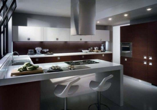 cozinhas modernas com fogão embutido