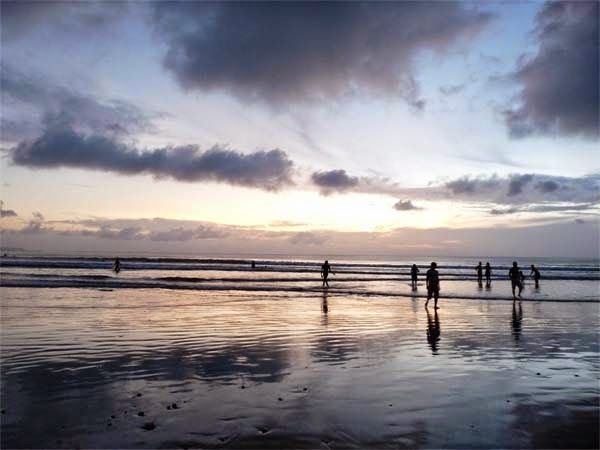Beautiful Sunset at Kuta Beach