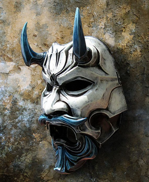 Uncle Oni Mask 311 Japanese Noh Style Fiberglass by TheDarkMask