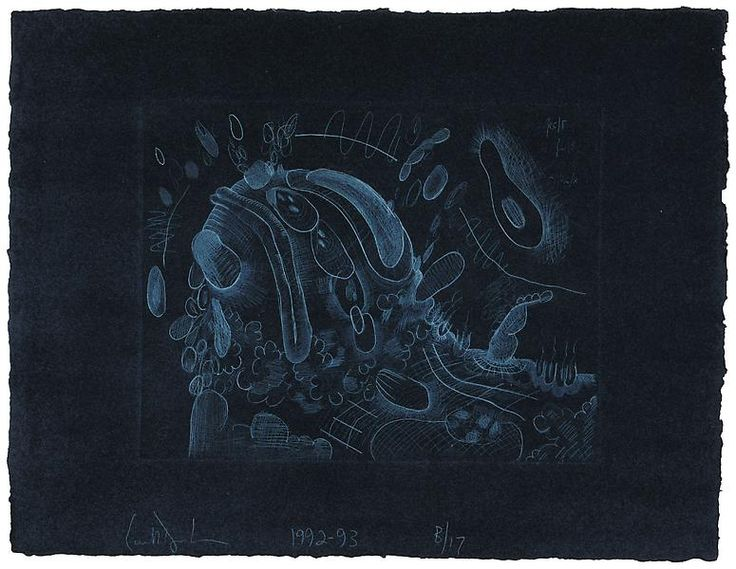 A26 Cold and Dark 1992 - 93 Drypoint on Richard de Bas handmade paper 19 3/4 x 25 7/8 inches  Publisher: ULAE Edition: 17