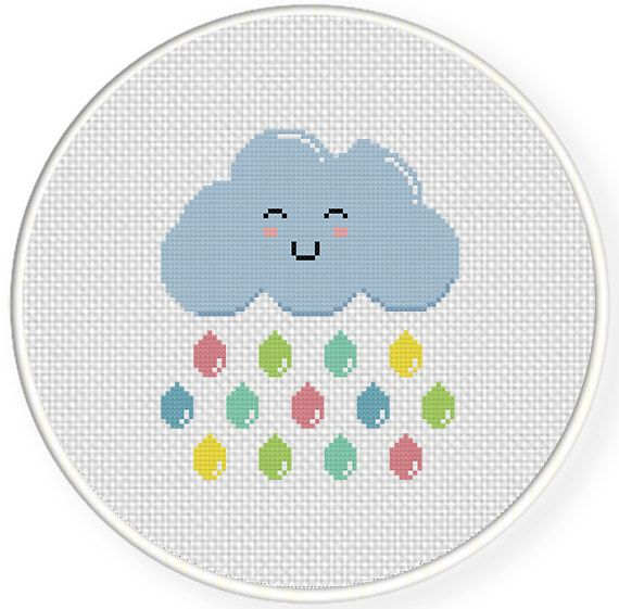 FREE for June 28th 2014 Only - Colorful Tears Cross Stitch Pattern