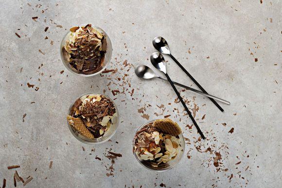 Dark Chocolate and Vino Cotto Caramel Sundae - Maggie Beer