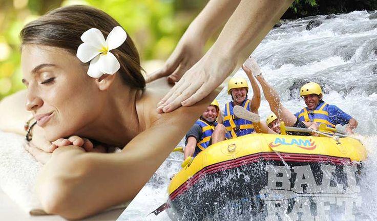 Ayung river rafting ubud & 2 hours happy ending spa bali