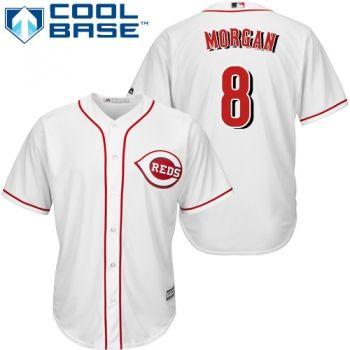 Youth Authentic Home White Cincinnati Reds Joe Morgan Jersey Cool Base MLB Majestic