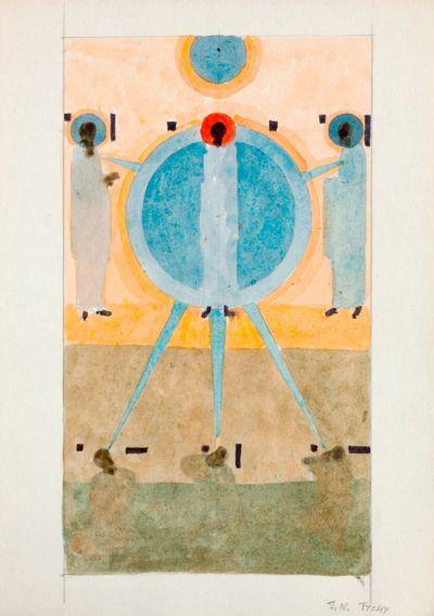 Jerzy Nowosielski, Bez tytułu (Tychy), ok. 1982-1984. DESA Unicum auction house, March 7, 2013