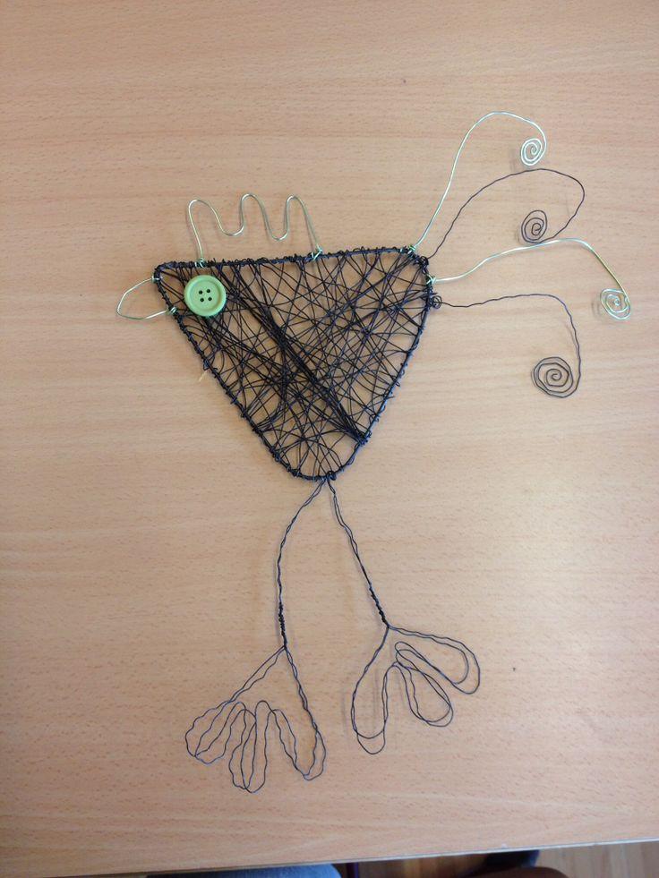 Poules en fil de fer pour p ques bricolage pinterest - Bricolage pour paques ...