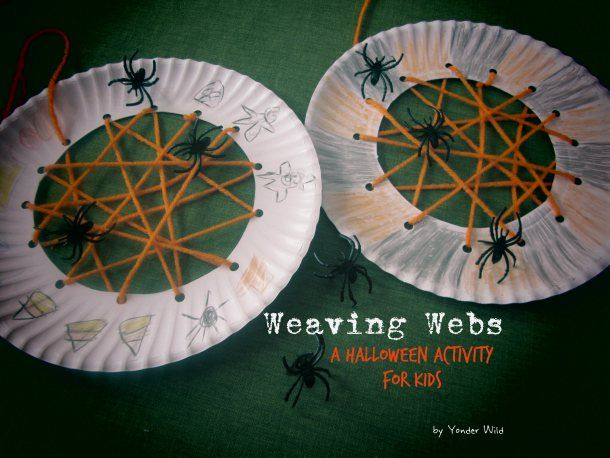 Weaving Webs using paper plates