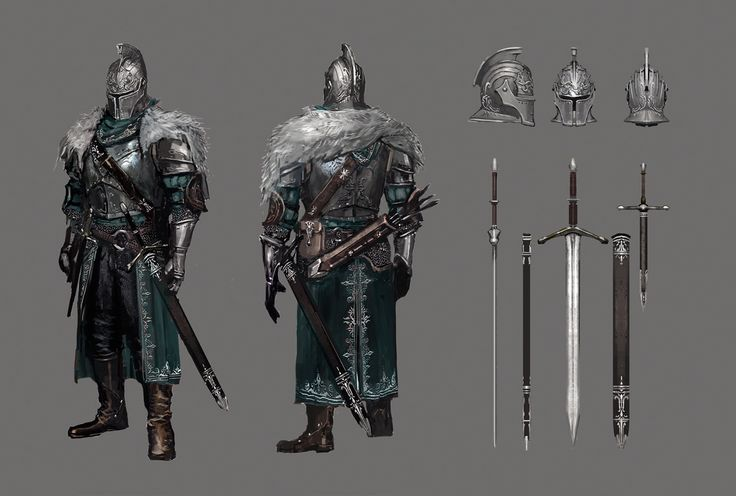 Faraam Armor. Dark Souls 2 - Concept Art. Property of From Software. Complete set: http://ahatupus.tumblr.com/tagged/darksouls2artwork
