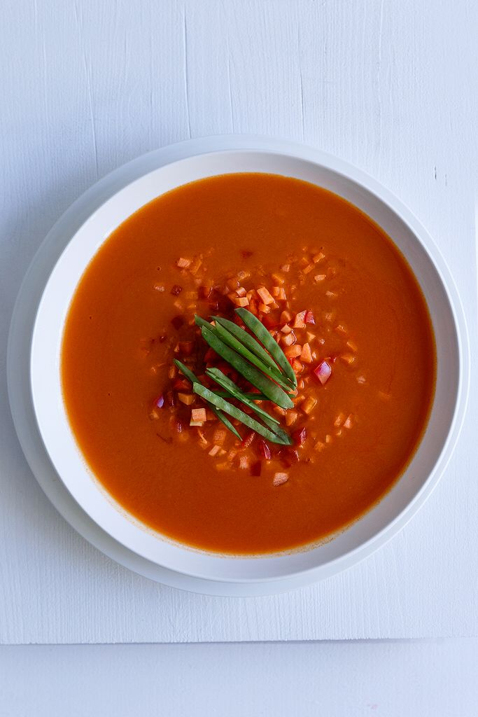 Red curry soup with sweet potato  Anna-Maria Barouh  http://www.instyle.gr/recipe/asiatiki-soupa-me-glikopatata/