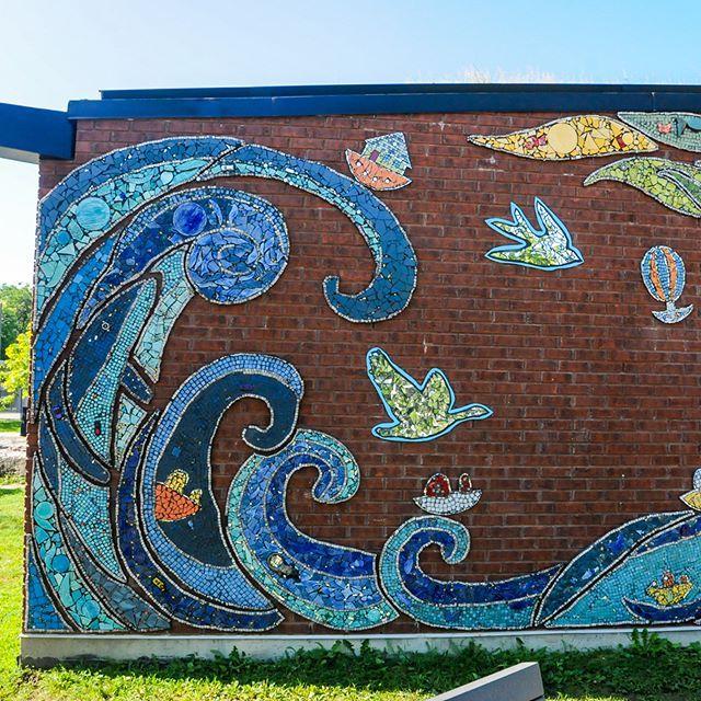 Parc Painter | 2017 . . . . . #ateliernayan #montreal #saint-laurent#mosaic #mosaique #mural #art #participatif #mediationculturelle