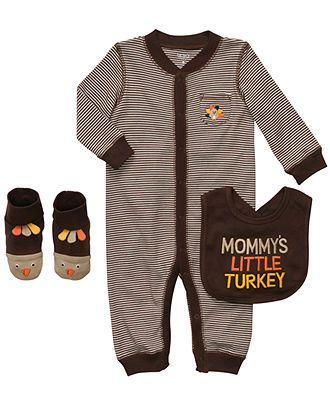 Carters Baby Set, Baby Boys Mommy's Little Turkey Thanksgiving 3-Piece Set - Kids Newborn Shop - Macy's
