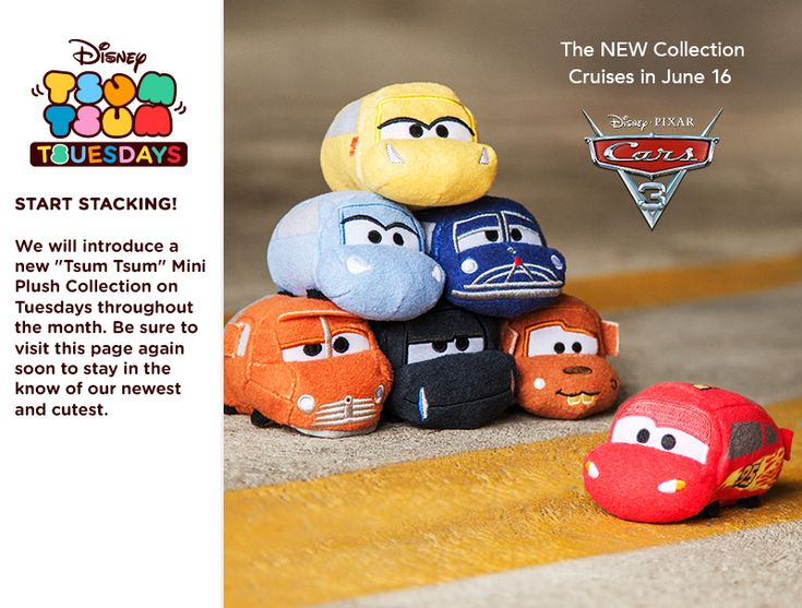 Just ahead of the new Cars 3 movie debut, Disney is releasing the Cars 3 Tsum Tsum collection.  The new collection will include 7 different Tsum Tsums including Lightning McQueen, Mater, Cruz, Smokey, Jackson, Sally and Doc Hudson.  Look for the new series on Disneystore.com and at Disney Stores on