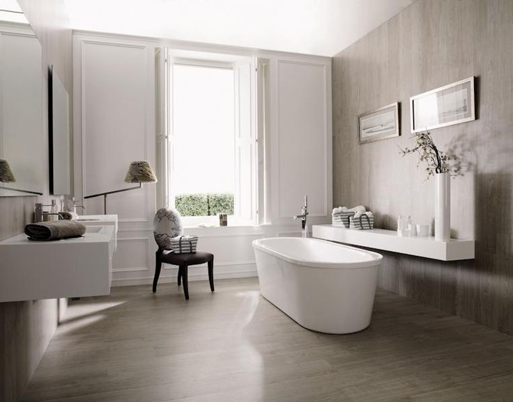 Houtlook tegels in badkamer bathroom pinterest - Porcelanosa tegel badkamer ...