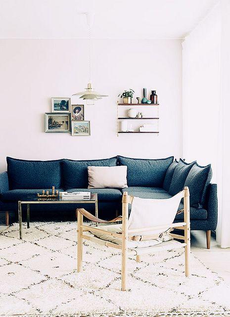 sofa + rug.