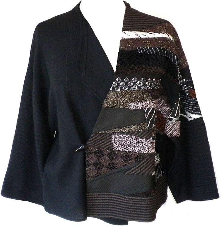 Minako: Patchwork kimono jacket.  A good project for recycled garment bits