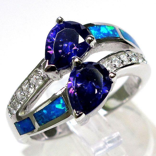 Amethyst & Blue Fire Opal...sooooo gorgeous