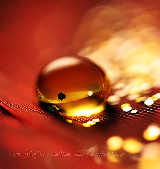 Yellow droplet 2 by Aerten