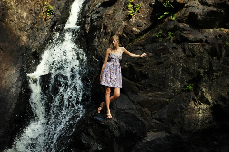 Waterfall In Ontario Summer Dress Fashion Etc