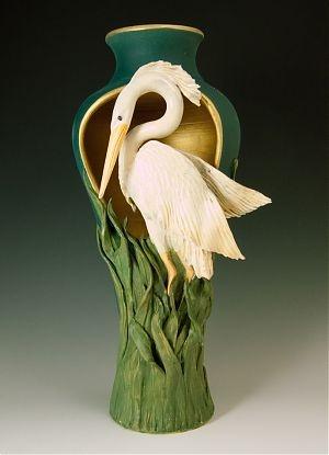 Bonnie Belt Ceramics Pinterest Herons Pedestal And Vase