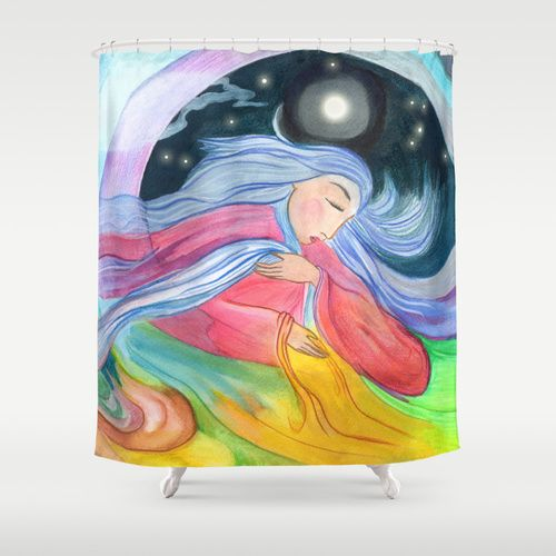 """Mother Earth"" Shower Curtain / 71"" by 74"" (Cortina de Ducha) 