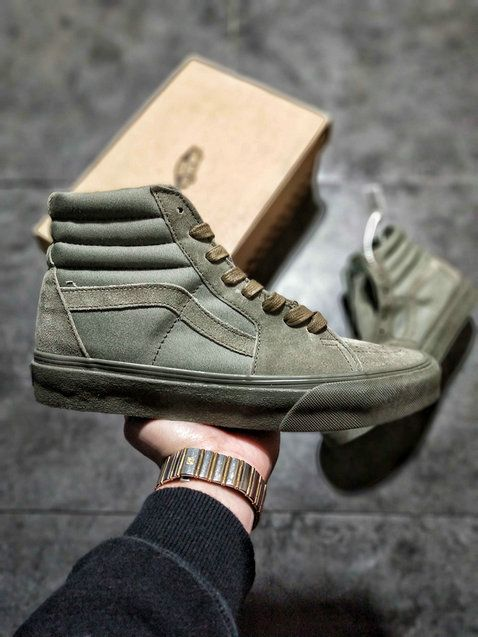 52cb746a573074 Vans Sk8 Hi Zip Chukka Dark Army Green Skate Shoe amazon Recommend Vans For  Sale  Vans
