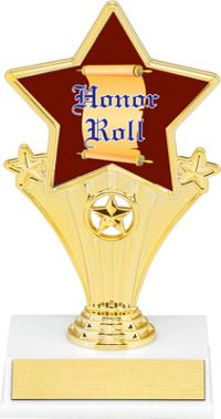 Honor Roll Super Star Trophy | Dinn Trophy New! Honor Roll super star trophy. Featuring 40 letters of free trophy personalization, this trophy is an unbeatable value ($0.10 per additional character)!