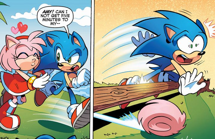 Amy Needs To Spin Dash More Xd  Sonic  Sonic The -3708