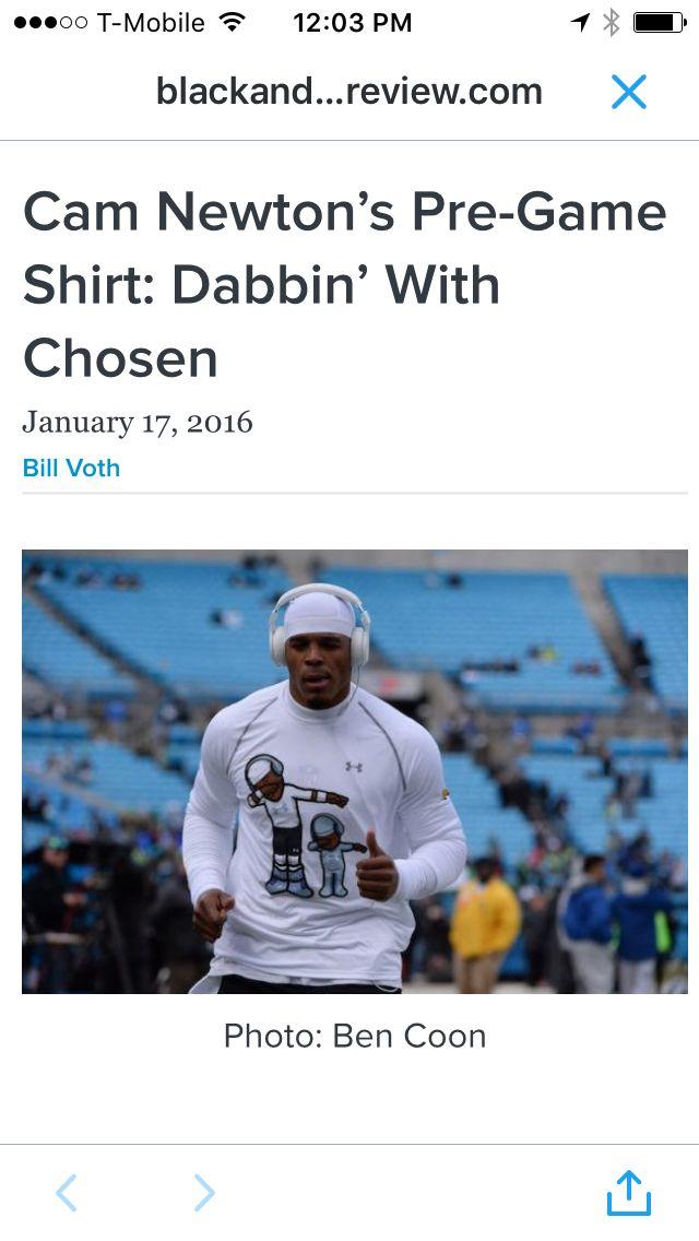 Cam Newton. Love the shirt.