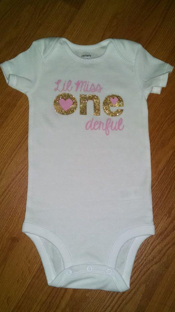Lil Miss ONEderful 1st Birthday Onesie or by tiffanylynnwilliams