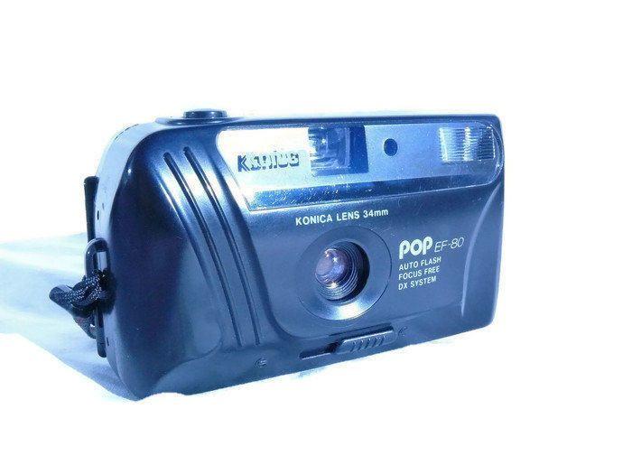 Konica POP EF-80, Vintage Camera, 35mm Camera, Konica Camera, 35mm Film Camera, Vintage Konica, Compact Camera, Point And Shoot Camera by HarmlessBananasTribe on Etsy