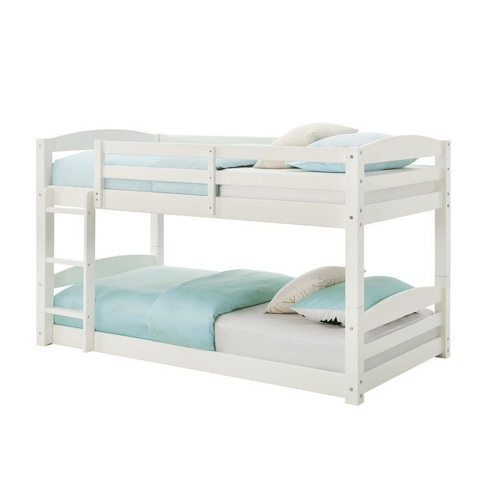 Bellmead Twin Over Twin Bunk Bed Twin Bunk Beds Bunk Beds White Bunk Beds